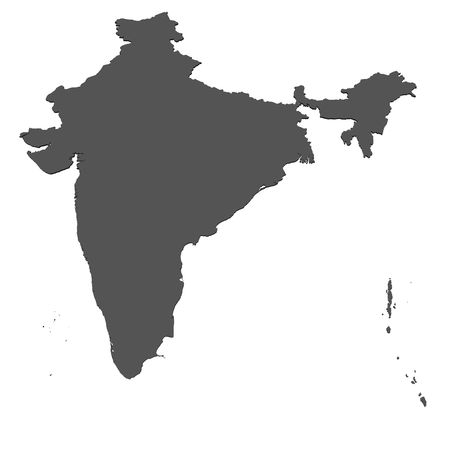 representations: Map of India - isolated