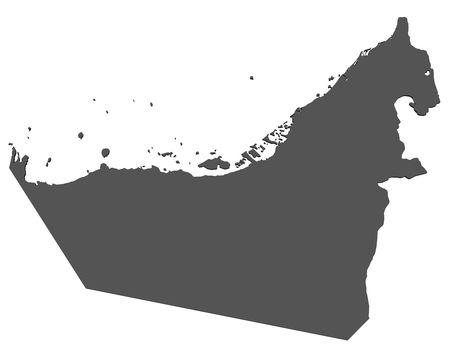 the emirates: Mapa de Emiratos �rabes Unidos - aislado  Foto de archivo
