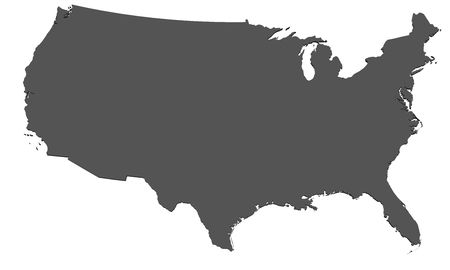 Map of USA - isolated