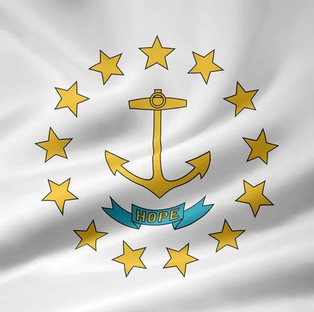 High resolution flag of Rhode Island photo