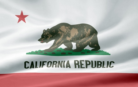 High resolution flag of California photo