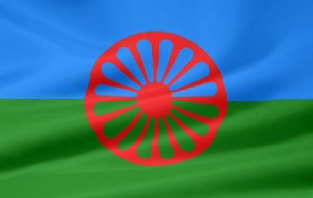 ロマーニ グループの旗 写真素材