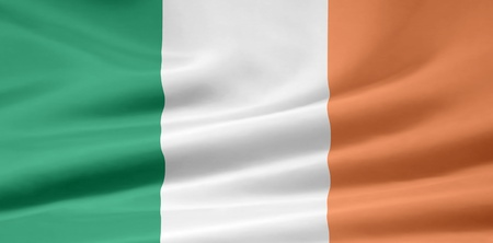 belfast: Flag of Ireland - official format Stock Photo