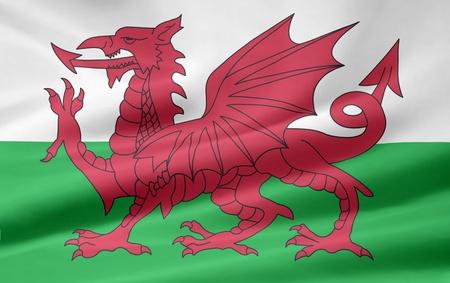 Flag of Wales - UK photo