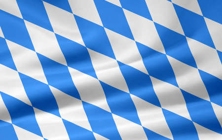 Flag of Bavaria - non official lozengy Stock Photo - 8639442