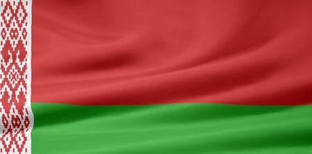 hape: Bandiera della Bielorussia Archivio Fotografico
