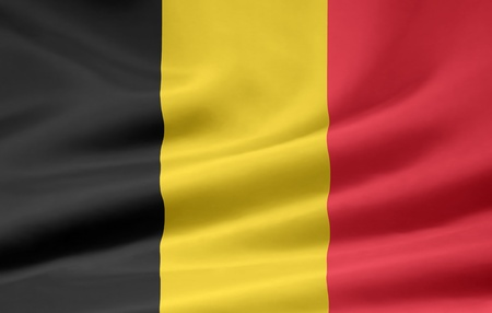 european culture: Flag of Belgium Stock Photo