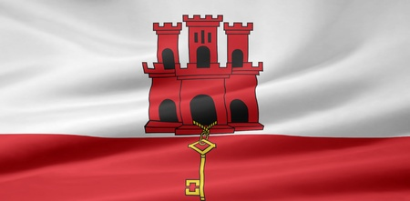 Flag of Gibraltar Stock Photo - 8639365