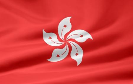 Flag of Hong Kong Imagens