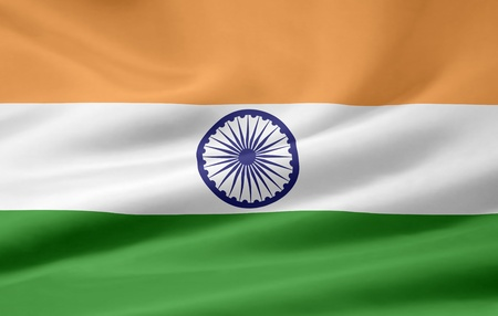 indian fabric: Flag of India