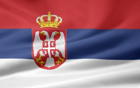 Flag of Serbia photo