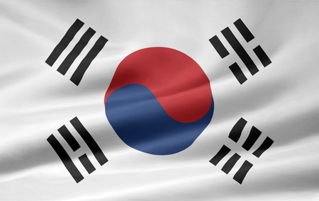 Flag of South Korea photo