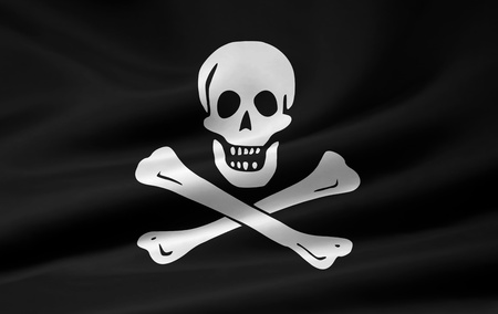 hackers: Pirate Flag of Jolly Roger Stock Photo