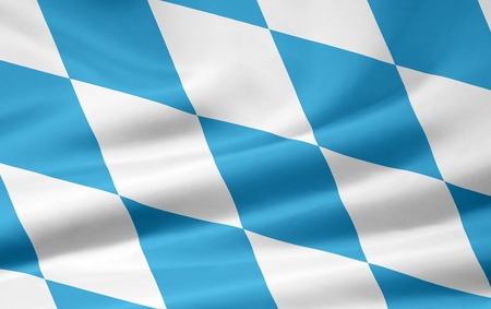 Flag of Bavaria - Germany (official number of lozengy) Imagens