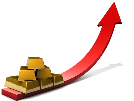 feedstock: Gold Investment Stock Photo