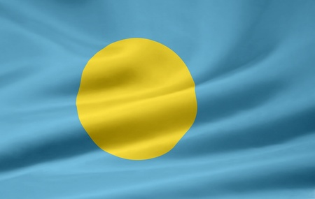 palau: Flag of Palau Stock Photo