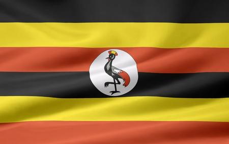 Flag of Uganda photo