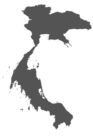 borderline: Map of Thailand Stock Photo