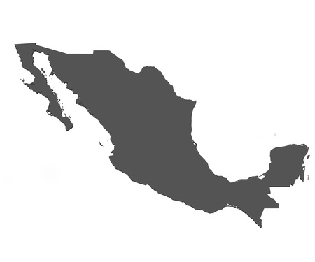 the borderline: Map of Mexico