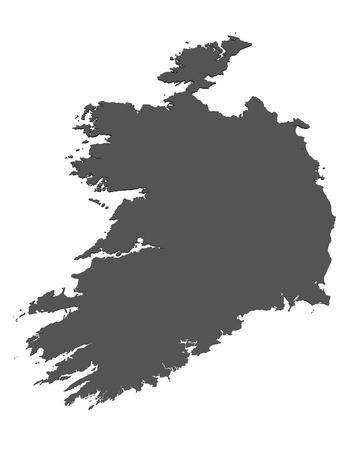 Isolated map of Ireland photo