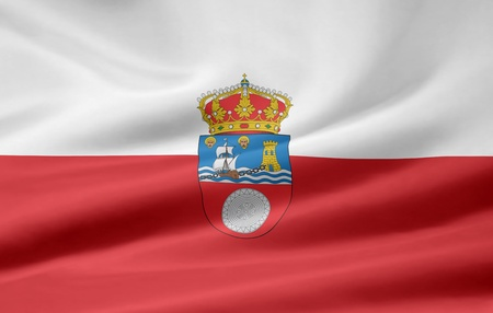 Flag of Cantabria - Spain  photo