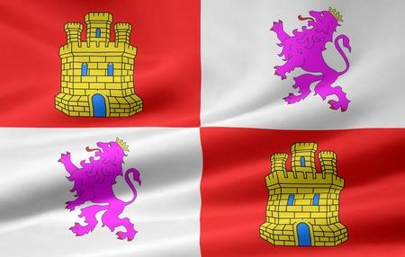 leon: Flag of Castile and Leon - Spain