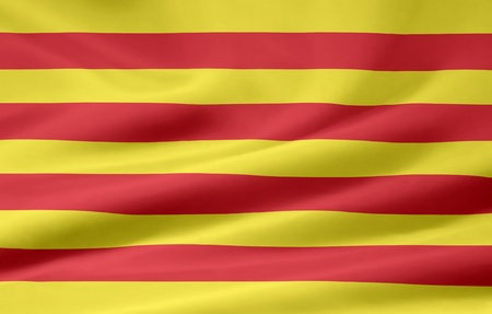 catalonia: Flag of Catalonia - Spain Stock Photo