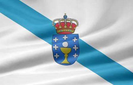 Flag of Galicia  - Spain photo