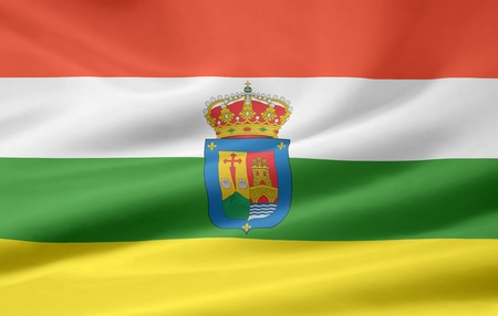 Flag of Rioja - Spain photo