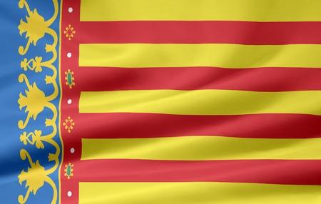Flag of Valencia - Spain photo