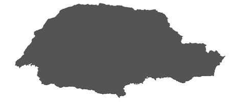 Isolated map of Parana - Brazil photo