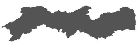 Isolated map of Pernambuco - Brazil photo