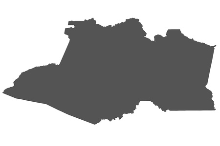 Isolated map of Amazonas - Brazil photo