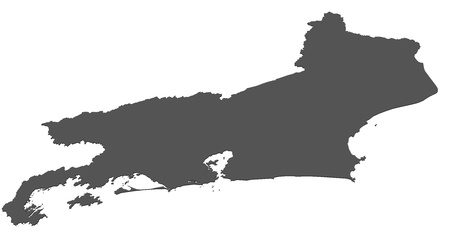 janeiro: Isolated map of Rio de Janeiro - Brazil