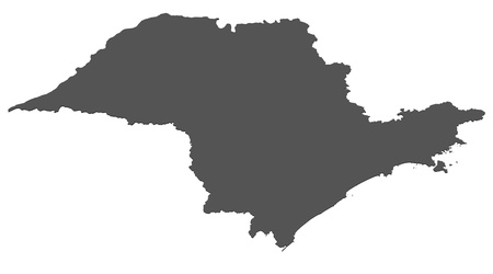 Isolated map of Sao Paulo - Brazil photo