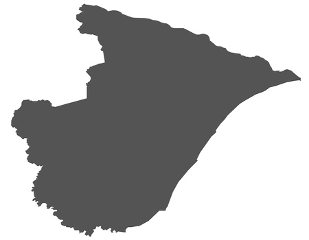 Isolated map of Sergipe - Brazil photo