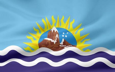 Flag of Santa Cruz - Argentina photo