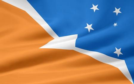 fuego: Flag of Tierra del Fuego - Argentina Stock Photo