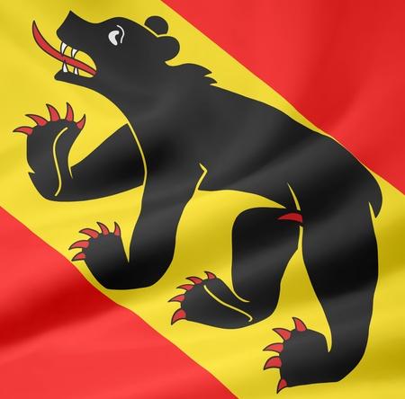 switzerland flag: Flag of Canton Bern - Switzerland Stock Photo