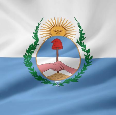 Flag of the province Mendoza - Argentina photo