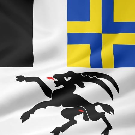 Flag of Canton Grisons - Switzerland Stock Photo - 10259438