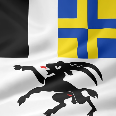 Flag of Canton Grisons - Switzerland