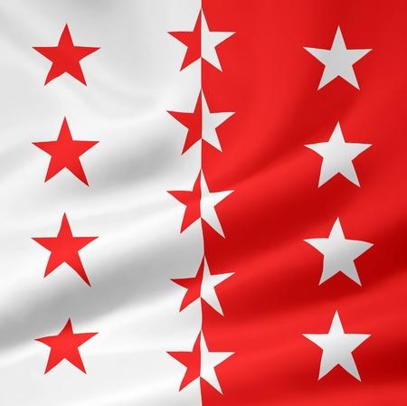 Flag of Canton Valais - Switzerland Stock Photo - 10259439