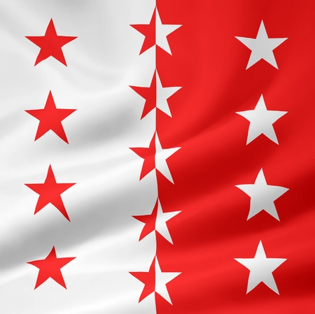 Flag of Canton Valais - Switzerland Imagens - 10259439