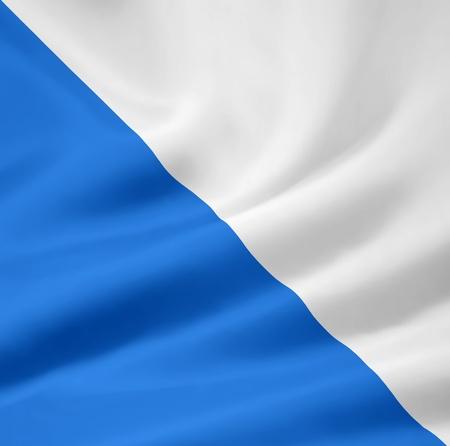 Flag of Canton Zurich - Switzerland Stock Photo - 10259434