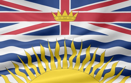 Flag of British Columbia - Canada photo