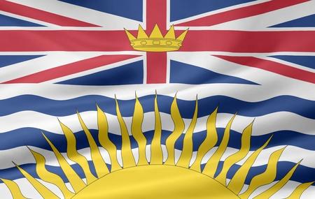 Flag of British Columbia - Canada photo