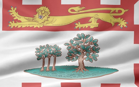 Flag of the Edward Island - Canada photo
