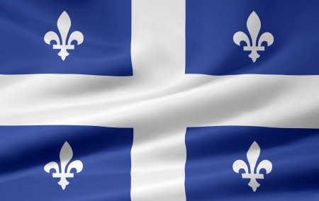 Flag of Quebec - Canada Archivio Fotografico