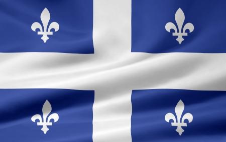 Flag of Quebec - Canada Standard-Bild